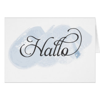Afrikaans - Hallo Greeting Card