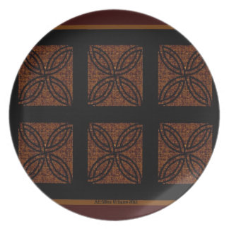 AfriMex Urbano Karimah's Flower Panel Plate