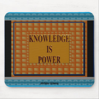 AfriMex Urbano Knowledge Is Power Mousepad