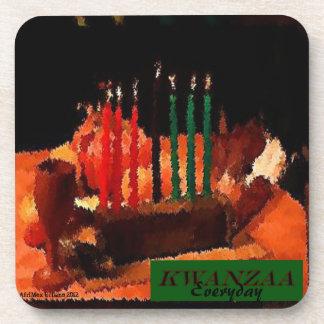 AfriMex Urbano Kwanzaa Painting Cork Coaster