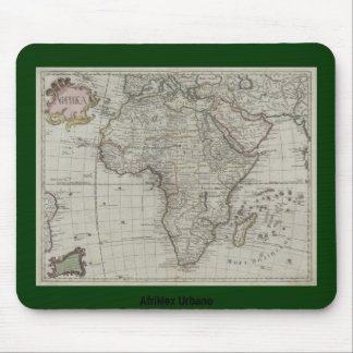 AfriMex Urbano Old African Map Mousepad