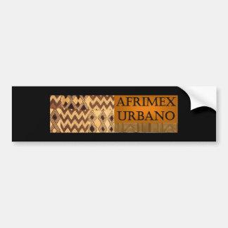 AfriMex Urbano Signature Series Bumper Sticker Blk Car Bumper Sticker