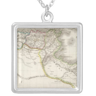 Afrique Propre - Africa Atlas Map Silver Plated Necklace