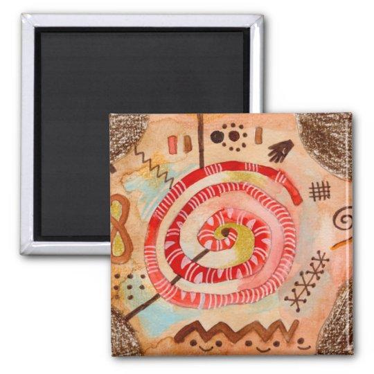 Afrique Square Magnet