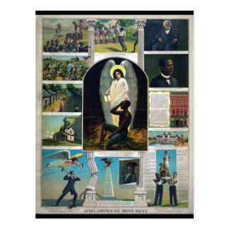 Afro-American Monument circa 1897 Postcard