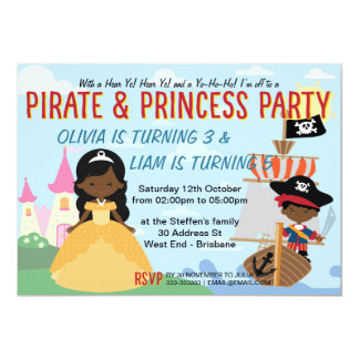 Afro American Pirates and Princess Card