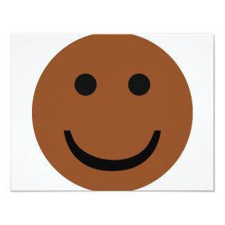 Afro-American smiley icon 11 Cm X 14 Cm Invitation Card
