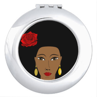 Afro Beauty Compact Mirror