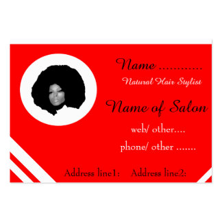 Afro chic natural hair illustration business cards