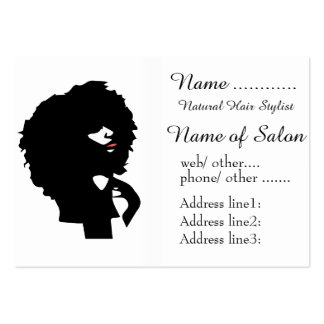 Afro chic natural hair illustration business card