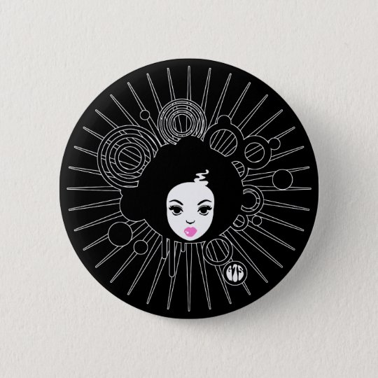 Afro Chick 6 Cm Round Badge
