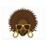 Afro Cool Postcard