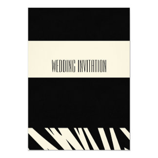 Afro-design zebra wedding invitation card