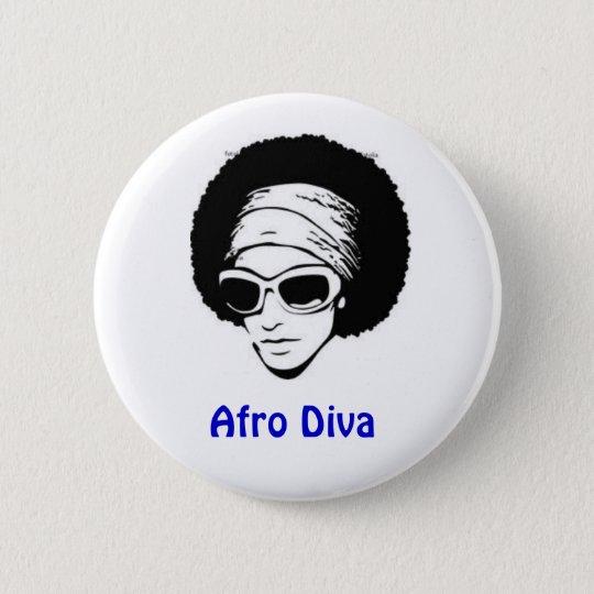 Afro Diva 6 Cm Round Badge