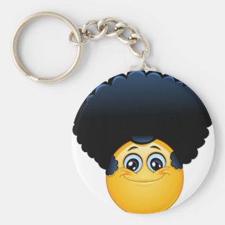 afro emoji key ring
