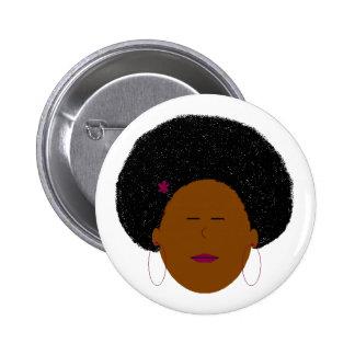 Afro girl button