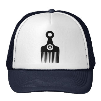 Afro Hair Peace Trucker Hat