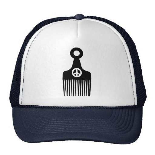 Afro Hair Peace Mesh Hat