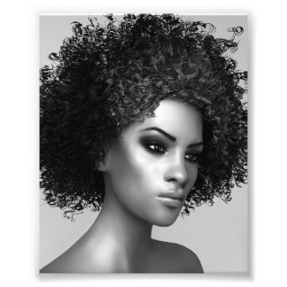 Afro Hair Photographic Print