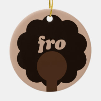 Afro Humor Christmas Ornament