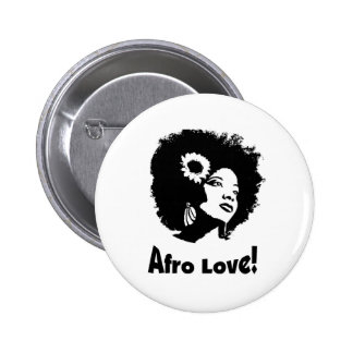 Afro Love 6 Cm Round Badge