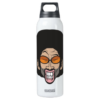 Afro man 16 oz insulated SIGG thermos water bottle