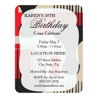 Afro natural curl pride 4.25x5.5 paper invitation card