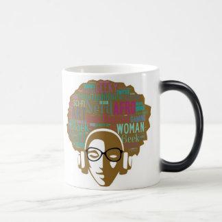Afro Nerd Girl: Morphing Mug