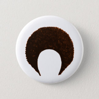 Afro Orange jGibney The MUSEUM Zazzle Gifts 6 Cm Round Badge