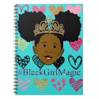 Afro Puff Black Girl Magic Spiral Notebook