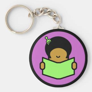 Afro Reader - Keychain