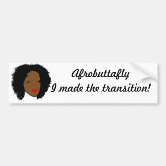 Afrobuttafly Bumper Sticker