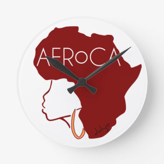 AFROCA . AFRO plus AFRICA (female) Clock