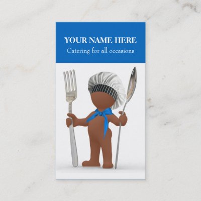 Modern cutlery chefcateringrestaurant business card zazzle reheart