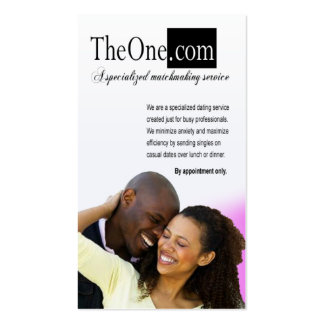 Afrocentric - Dating Service, Matchmaking, Couples Double-Sided Standard Business Cards (Pack Of 100)