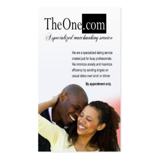 Afrocentric - Dating Service, Matchmaking, Singles Double-Sided Standard Business Cards (Pack Of 100)
