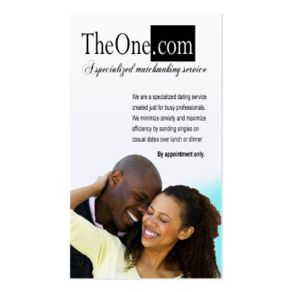 Afrocentric - Dating Service, Matchmaking, Singles Pack Of Standard Business Cards