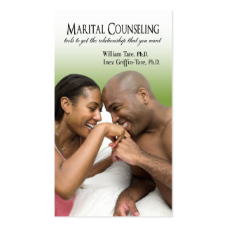 Afrocentric - Marital Counseling, Couples Therapy Business Card Template