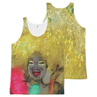 Afropower Tshirt unissex All-Over Print Tank Top