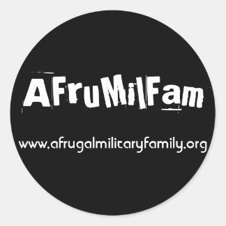 AFruMilFam Stickers! Round Sticker
