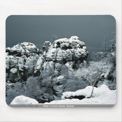 After a snow storm, Russia Mousepad