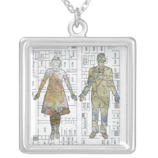 After Maps Silver Plated Necklace