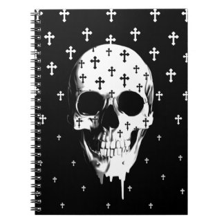 After Market, gothic skull with crosses Spiral Notebook