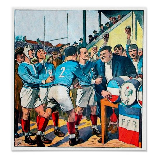 After Match - Vintage Rugby Art Poster