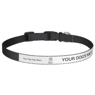 After Me the Flood - French Expression Dog Collar