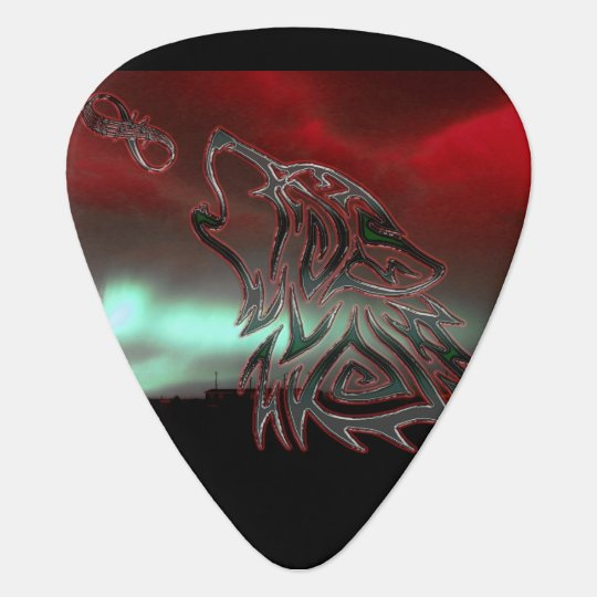 After Midnight Red Guitar Pick