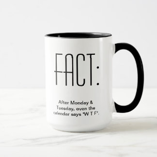 After Monday & Tuesday, even the Calendar says WTF Mug