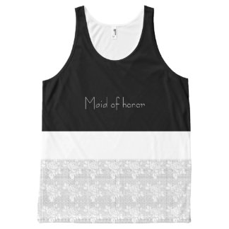 After-Party-Maid-of-Honor-White-Lace-Tank-Top All-Over Print Tank Top
