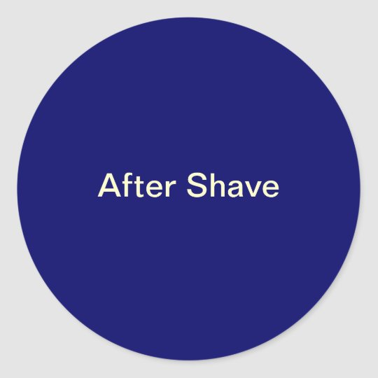 After Shave Labels/ Classic Round Sticker