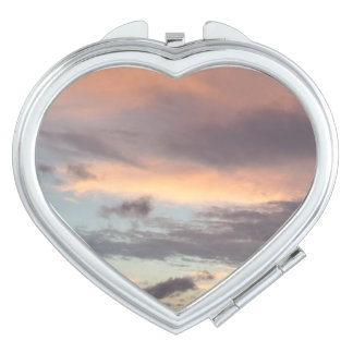 After Storm Sky Heart Compact Mirror